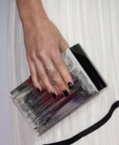 Lizzy Caplan's Rauwolf clutch