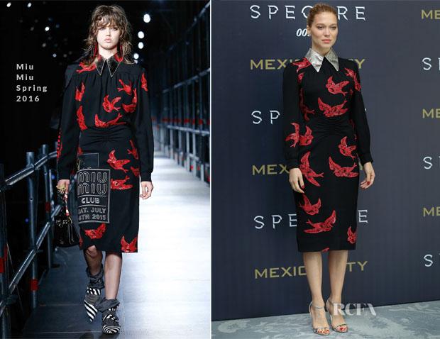 Lea Seydoux In Miu Miu S16 - 'Spectre' Mexico City Photocall