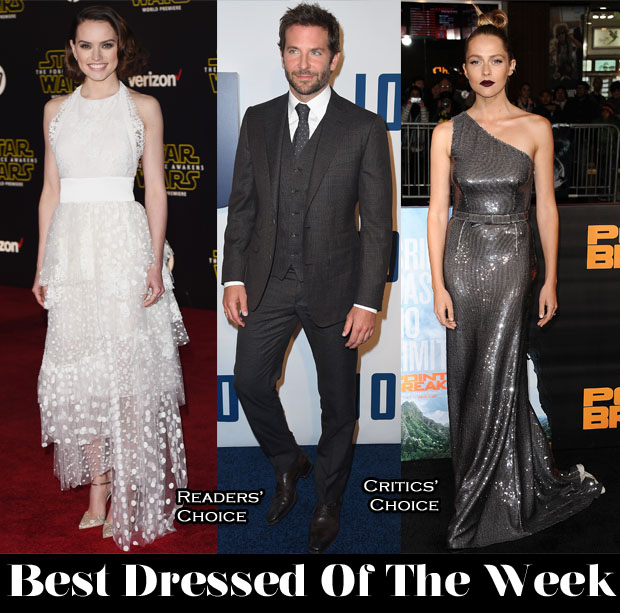 Best Dressed Of The Week - Daisy Ridley In Chloe, Teresa Palmer In Prada & Bradley Cooper in Thom Sweeney