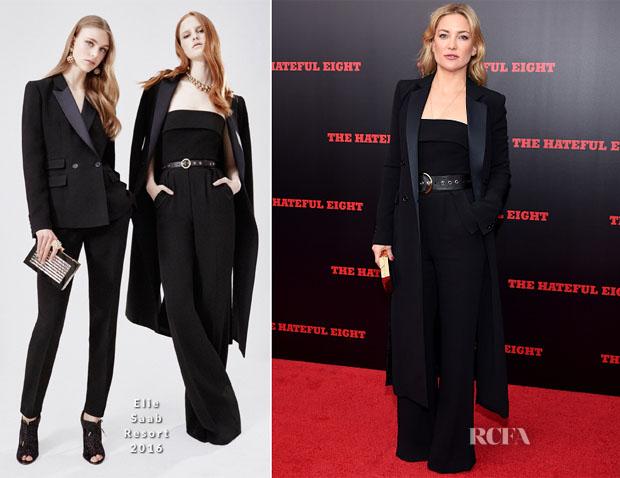 Kate Hudson In Elie Saab -  'The Hateful Eight' New York Premiere