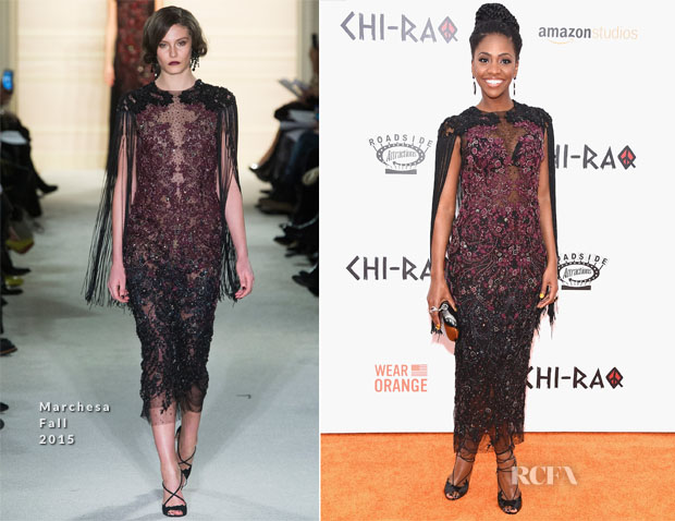 Teyonah Parris In Marchesa - 'CHI-RAQ' New York Premiere