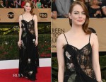 Emma Stone In Alexander McQueen - 2017 SAG Awards