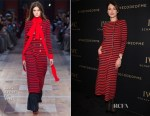 Olga Kurylenko In Sonia Rykiel & Giorgio Armani - Da Vinci Collection by IWC Schaffhausen Launch