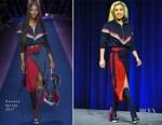 Lady Gaga In Versace - Super Bowl LI Pregame Show Press Conference