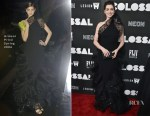 Anne Hathaway In Armani Privé - 'Colossal' New York Premiere