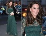 Catherine, Duchess of Cambridge In Temperley London - 2017 Portrait Gala
