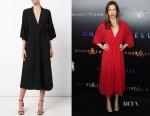 Alysia Reiner's TOME v-neck belted dress