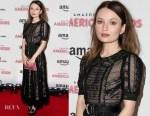Emily Browning In Miu Miu - 'American Gods' London Premiere