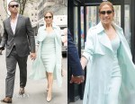 Jennifer Lopez In AQ/AQ & Roland Mouret - Out In New York City