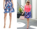Reese Witherspoon's Drapers James Bellamy floral skirt