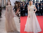 Clotilde Courau In Elie Saab Couture - 'Ismael's Ghosts' Cannes Film Festival Premiere