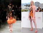 Elle Fanning In Prada - 'How To Talk To Girls At Parties' Cannes Film Festival Photocall