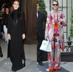 Celine Dion In Balmain & Roberto Cavalli -  l'Opera Garnier & Hotel Royal Monceau