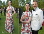 Erin O'Connor In Emilia Wickstead - Woodside Gallery Dinner In Benefit Of Elton John AIDS Foundation