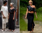 Lady Gaga goes hiking in heels wearing Rachel Comey