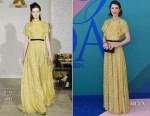 Mary Elizabeth Winstead In Lela Rose - 2017 CFDA Fashion Awards