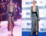 Cara Delevingne In Alexandre Vauthier Couture - 'Valerian and the City of a Thousand Planets' Paris Premiere