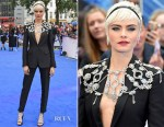 Cara Delevingne In Burberry - 'Valerian and The City of a Thousand Planets' London Premiere