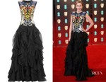 Emily Blunt's Alexander McQueen Ruffled Embroidered Silk-Organza Gown