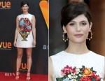 Gemma Arterton Attends Relaunch Of Vue Entertainment Venue in Dolce & Gabbana