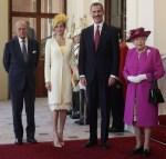 Queen Letizia of Spain Kicks Off Her UK State Visit In Felipe Varela