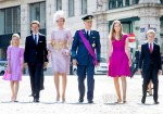 Queen Mathilde of Belgium In Natan - The Belgian Royal Family Celebrates National Day