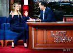 Elizabeth Olsen In Gabriela Hearst - The Late Show with Stephen Colbert