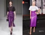Karlie Kloss In Salvatore Ferragamo - Hanes x Karla Launch Party