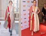 Brie Larson In Schiaparelli Couture - 'Unicorn Store' Toronto Film Festival Premiere