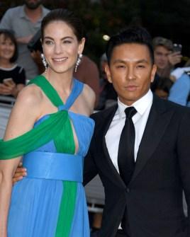 Michelle Monaghan and designer Prabal Gurung