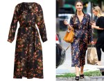 Lily Aldridge's Isabel Marant Olympia Floral-Print Silk Dress