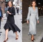 Maggie Gyllenhaal In Monse & Bottega Veneta - The Late Show With Stephen Colbert