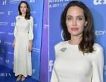 Angelina Jolie In Ulyana Sergeenko Demi-Couture - 'The Breadwinner' LA Premiere