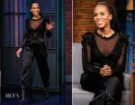 Kerry Washington In Faith Connexion & Redemption -  Late Night With Seth Meyers