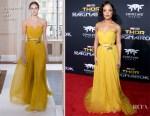 Tessa Thompson In Schiaparelli Couture - 'Thor: Ragnarok' LA Premiere