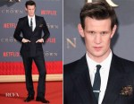 Matt Smith In Burberry Tailoring - 'The Crown' Season 2 London Premiere