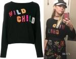 Miley Cyrus' Alice + Olivia Bao Wild Child Sweater