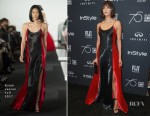 Nina Dobrev In Ralph Lauren - HFPA and Instyle Celebration of the 2018 Golden Globe Awards