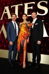 SYDNEY, AUSTRALIA - DECEMBER 20: Zac Efron, Zendaya and Hugh Jackman attend the Australian premiere of The Greatest Showman at The Star on December 20, 2017 in Sydney, Australia. (Photo by Lisa Maree Williams/Getty Images)