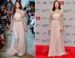 Olga Kurylenko In Elie Saab Couture - 2017 Dubai International Film Festival