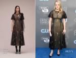 Elisabeth Moss In Erdem - 2018 Critics' Choice Awards