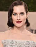Get The Look: Allison Williams' SAG Awards Old Hollywood Glamour Bold Beauty