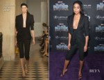 Laura Harrier In Jacquemus - 'Black Panther' World Premiere