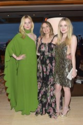 Elle Fanning, Samantha McMillen and Dakota Fanning attend The Hollywood Reporter and Jimmy Choo Power Stylists Dinner