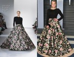 Abbie Cornish In Christian Siriano - 2018 Vanity Fair Oscar Party