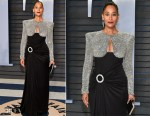 Tracee Ellis Ross In Balmain 44 François Premier - 2018 Vanity Fair Oscar Party