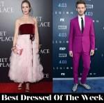 Best Dressed Of The Week - Emily Blunt in Oscar de la Renta & Dan Stevens in Paul Smith
