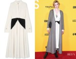 Elizabeth Debicki's Victoria Beckham Dual-Colour Dress