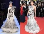 Araya A. Hargate In Jean Paul Gaultier Haute Couture - 'Girls Of The Sun (Les Filles Du Soleil)' Cannes Film Festival Premiere