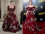 Emilia Clarke In Valentino Haute Couture - 'SOLO: A Star Wars Story' LA Premiere